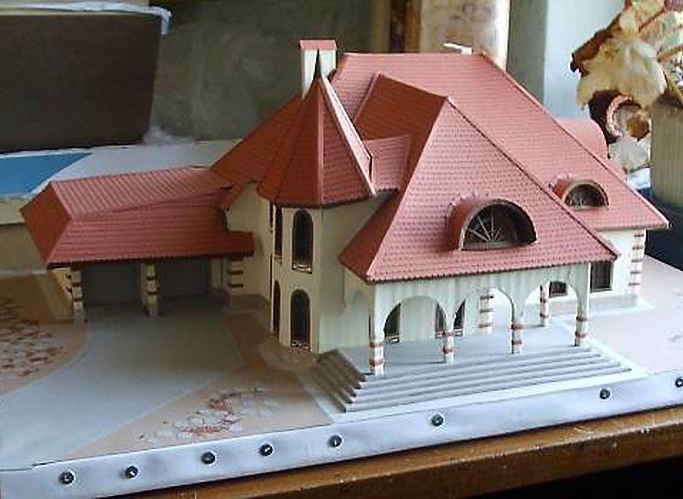 Макет домов из картона своими руками